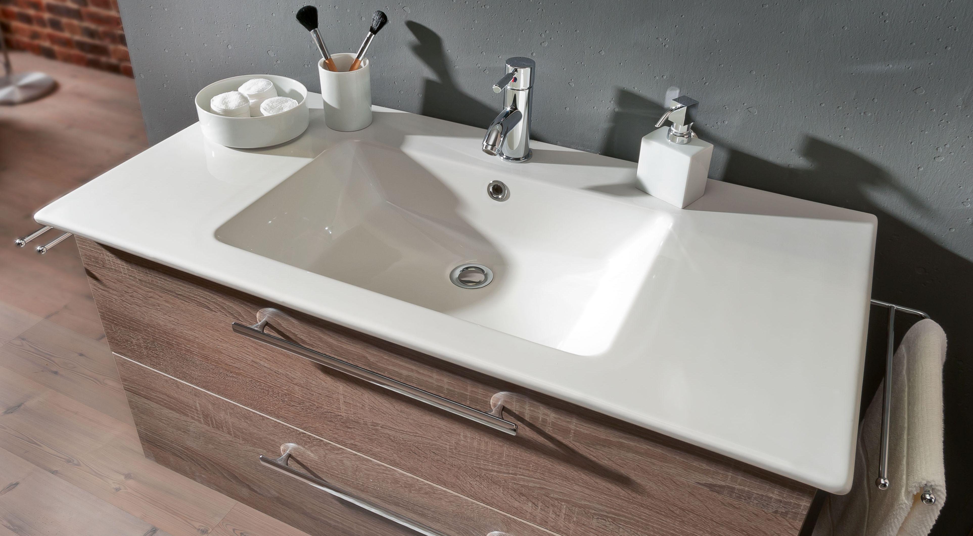 Plan De Toilette Salle De Bain marlin christall set-meubles de salle de bain avec armoire de toilette y  compris �clairage led, 100 cm