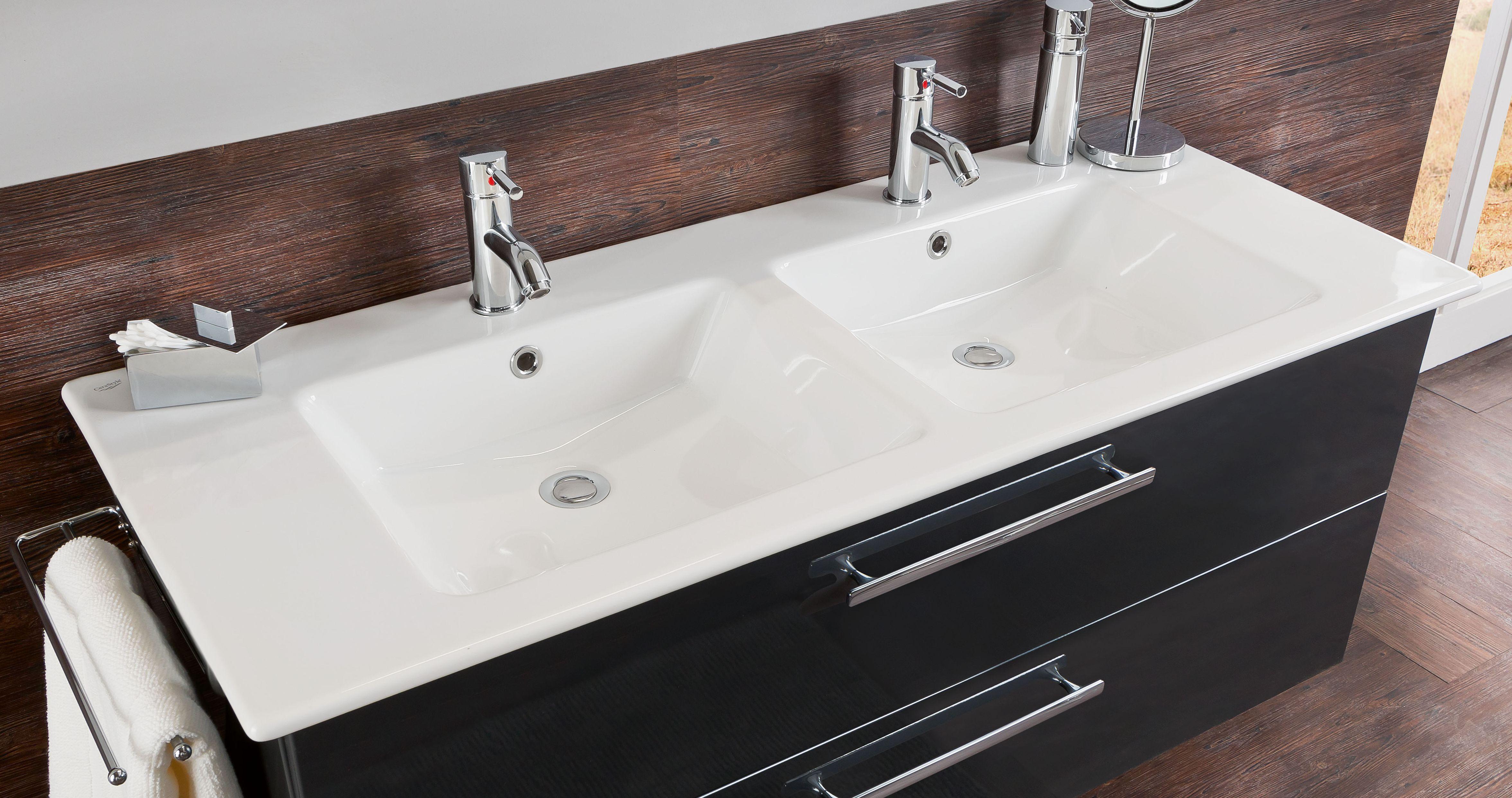 Plan De Toilette Salle De Bain marlin christall set-meubles de salle de bain avec armoire de toilette y  compris �clairage led, 120 cm