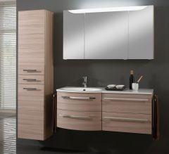 Marlin 3090 Set-Meubles de bain avec armoire de toilette y compr. éclairage,  plan de dépose à droite, 120 cm