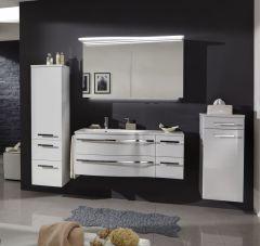 Marlin Motion Set-Meubles de salle de bain avec armoire de toilette y compr. éclair. LED, vasque à gauche, 120 cm