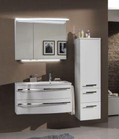 Marlin Motion Set-Meubles de salle de bain avec armoire de toilette, éclairage LED, vasque à droite , 90 cm