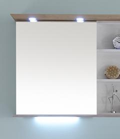 Pelipal SOLITAIRE 9030 Armoire de toilette avec étagère ouverte, Éclairage LED dans la corniche, 65 cm