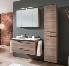 Marlin Christall Set-Meubles de salle de bain avec armoire de toilette y compris éclairage LED, 100 cm