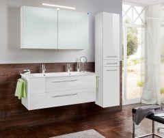 Marlin Christall Set-Meubles de salle de bain avec armoire de toilette y compris éclairage LED, 120 cm