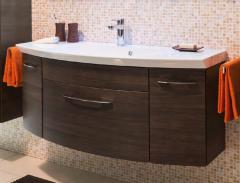 Pelipal Cassca Meuble sous plan de toilette, 1 tiroir, 2 portes, 120 cm