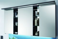 Puris Linea Armoire de toilette y compris un panneau-plafond avec éclairage LED, 130 cm