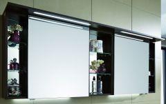 Puris Linea Armoire de toilette y compris un panneau-plafond avec éclairage LED, 170 cm