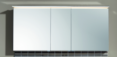 Puris Star Line Armoire de toilette avec éclairage LED de surface, pour solution à plan de toilette double, 140 cm