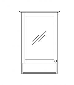 Pelipal SOLITAIRE 9030 Armoire de toilette avec compartiment ouvert, Éclairage LED dans la corniche, 50 cm