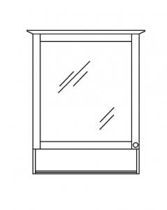 Pelipal SOLITAIRE 9030 Armoire de toilette avec un compartiment ouvert, Éclairage dans la corniche, 65 cm