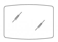 Pelipal Balto Miroir sur panneau support, 100 cm