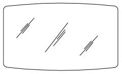 Pelipal Balto Miroir sur panneau support, 120 cm