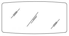 Pelipal Balto Miroir sur panneau support, 140cm