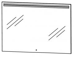 Puris Star Line Miroir avec LED illumination, 90 cm
