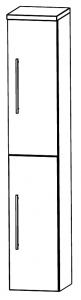 Puris Star Line Colonne avec 2 portes tournantes, 30 cm