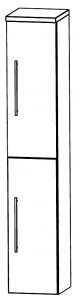 Puris Star Line Colonne avec 2 portes tournantes, 40 cm