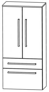 Puris Linea Colonne, 2 portes tournantes, 2 tiroirs, 60 cm