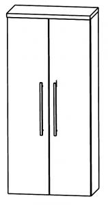 Puris Star Line Armoire moyenne avec 2 portes tournantes, 60 cm