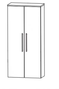 Puris Linea Armoire moyenne, 2 portes tournantes, 60 cm
