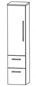 Puris Linea Armoire moyenne avec 1 porte et 2 tiroirs, 40 cm