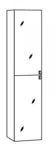 Marlin Motion Colonne haute, 2 portes miroir, 40 cm