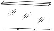 Puris Star Line Armoire de toilette avec éclairage LED de surface, pour solution de plan de toilette unique, 140 cm