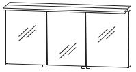 Puris Star Line Armoire de toilette avec éclairage LED de surface, 160 cm