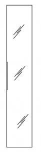 Pelipal Neutrale Einzelmöbel (FR) Colonne mi-hauteur avec une porte-miroir, 30 cm