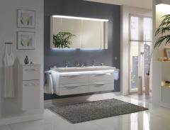Pelipal Balto Set-Meubles de salle de bain, double vasque, 150 cm
