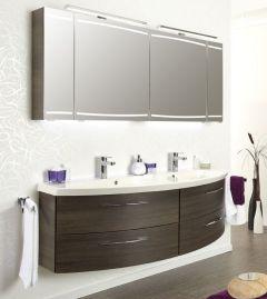 Pelipal Cassca Set-Meubles de salle de bain, double vasque, 150 cm