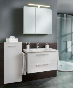 Marlin Christall Set-Meubles de salle de bain avec armoire de toilette y compris éclairage LED, 80 cm