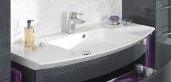 Pelipal Cassca Plan de toilette en marbre minéral, 100 cm