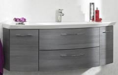 Pelipal Cassca Meuble sous plan de toilette, 2 tiroirs, 2 portes,   120 cm