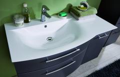 Puris Linea Set-Meubles de salle de bains avec  élément sous plan de toilette, porte à droite, 101 cm