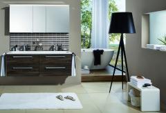 Puris Star Line Set-Meubles de salle de bain avec armoire de toilette y compris éclairage LED de surface, 140 cm