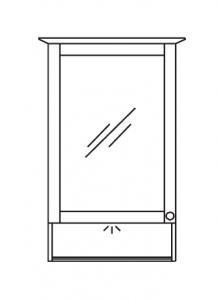 Pelipal SOLITAIRE 9030 Armoire de toilette y c. éclairage LED dans la corniche et dans le compartiment ouvert, 50 cm