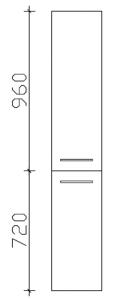 Pelipal Cassca Colonne avec 2 portes, 30 cm