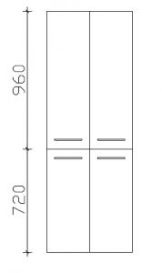 Pelipal Cassca Colonne avec 4 portes, 60 cm