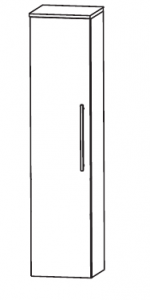 Puris Linea Armoire moyenne avec une porte tournante, 30 cm