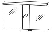Puris Star Line Armoire de toilette avec éclairage LED de surface, pour solution à  plan de toilette double, 120 cm