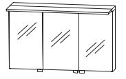 Puris Star Line Armoire de toilette avec éclairage LED de surface, pour plan de toilette unique, 120 cm