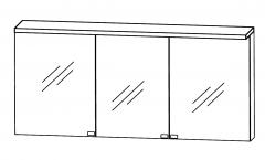 Puris Star Line Armoire de toilette y compris un panneau-plafond avec éclairage LED, 160 cm