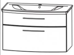 Puris Linea Set-Plan de toilette en matériau de synthèse, 71 cm